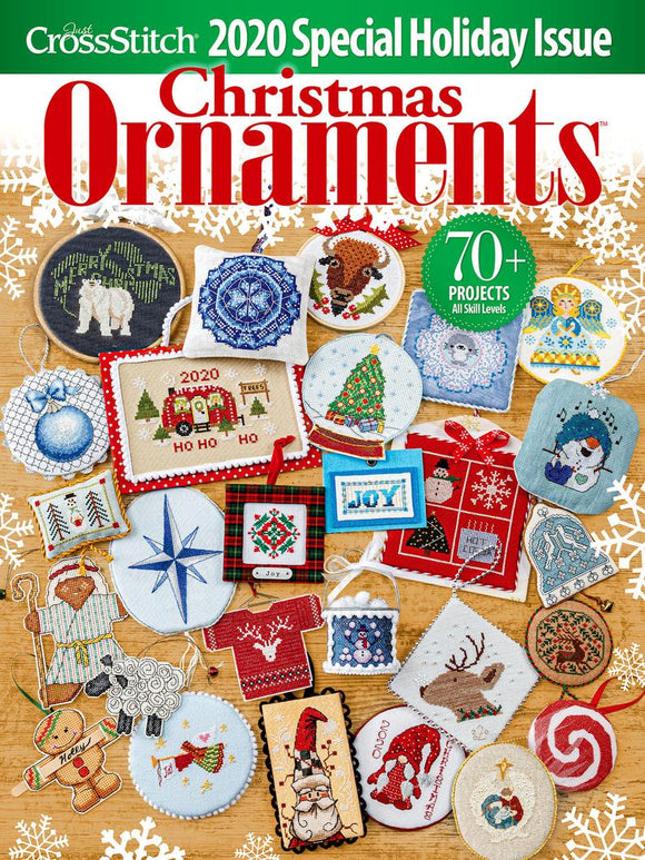 PRE-ORDER: New! 2020 Just Cross Stitch Christmas Ornament Special Holiday Issue | Just Cross Stitch
