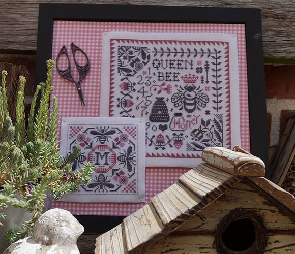 New! Queen Bee Sampler & Pincushion | Marjorie Massey Nashville 2020 Release