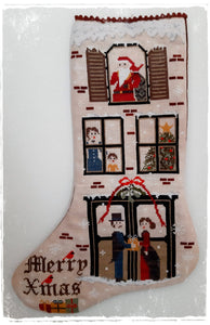 Vintage Christmas Stocking | Fairy Wool in the Wood - Needlework Expo