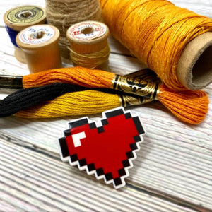 Video Game Pixel Heart Needle Minder