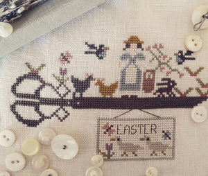 Easter Scissors Sampler | Nikyscreations Primitive Nashville 2020 Exclusive