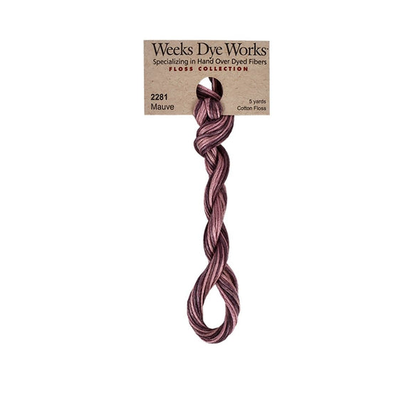 Mauve | Weeks Dye Works - Hand-Dyed Embroidery Floss
