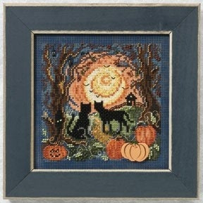 Moonlit Kitties | Mill Hill Buttons and Bead Cross Stitch Kit