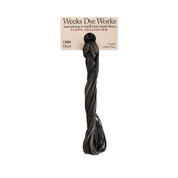 Onyx | Weeks Dye Works - Hand-Dyed Embroidery Floss