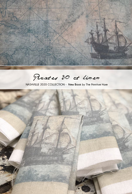 Pirate 30ct Linen | The Primitive Hare