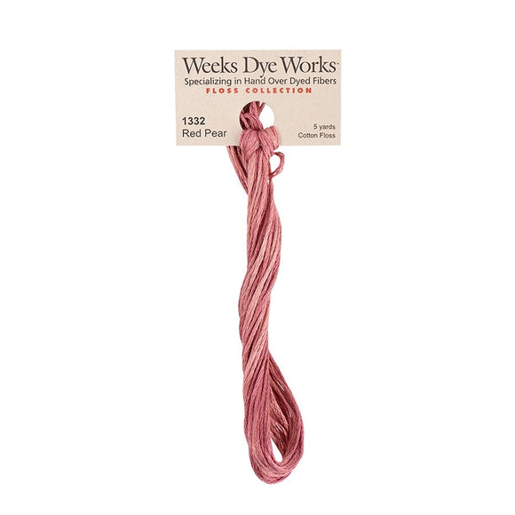 Red Pear | Weeks Dye Works - Hand-Dyed Embroidery Floss