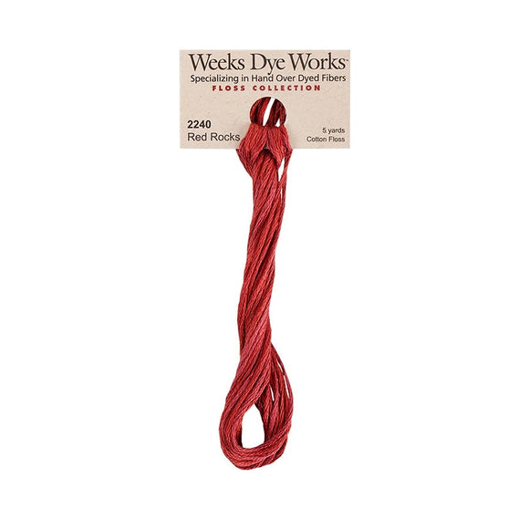 Red Rocks | Weeks Dye Works - Hand-Dyed Embroidery Floss