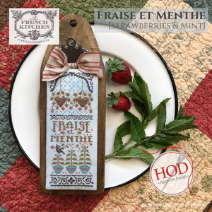 Pre-Order: Fraise et Menthe (Strawberries & Mint) The French Kitchen Series | Hands on Design - Needlework Expo