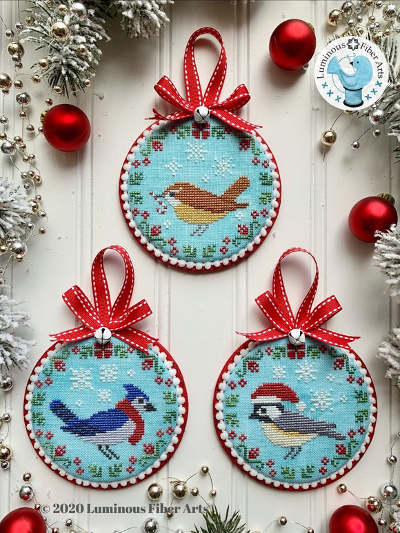 Christmas Bird Trio | Luminous Fiber Arts