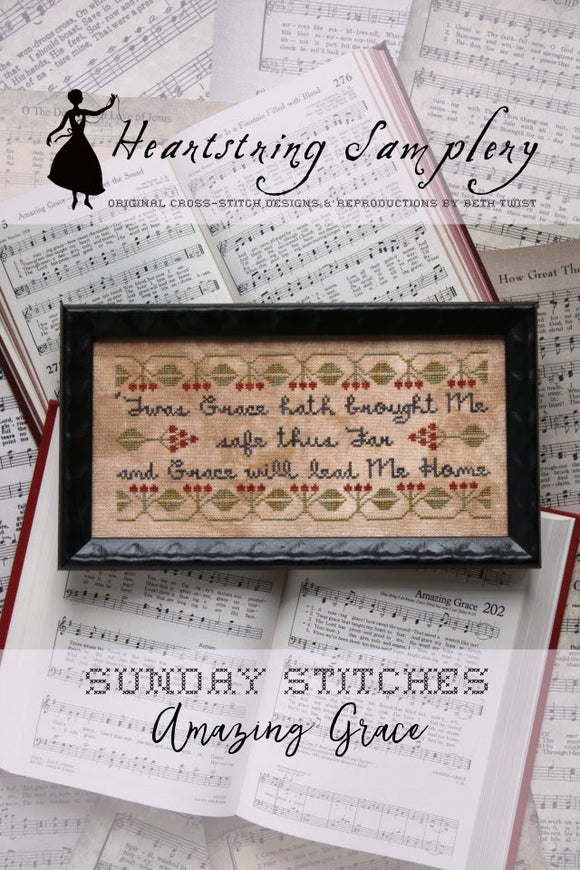 Pre-Order: Sunday Stitches - Amazing Grace | Heartstring Samplery