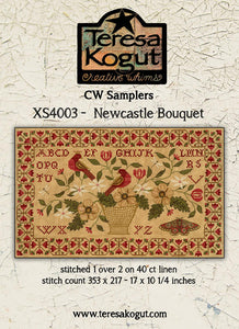 Newcastle Bouquet, Creative Whims Samplers | Teresa Kogut Nashville 2020 Release