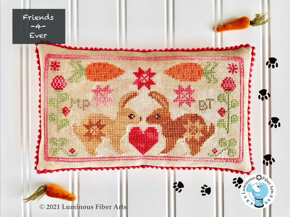 Pre-Order: BFF Bunnies Friendship Series | Luminous Fiber Arts - Needlework Expo