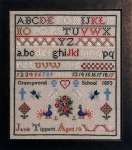Janie Tippet: A Cornish Schoolgirl Sampler | Fox and Rabbit Designs Nashville 2020 Exclusive