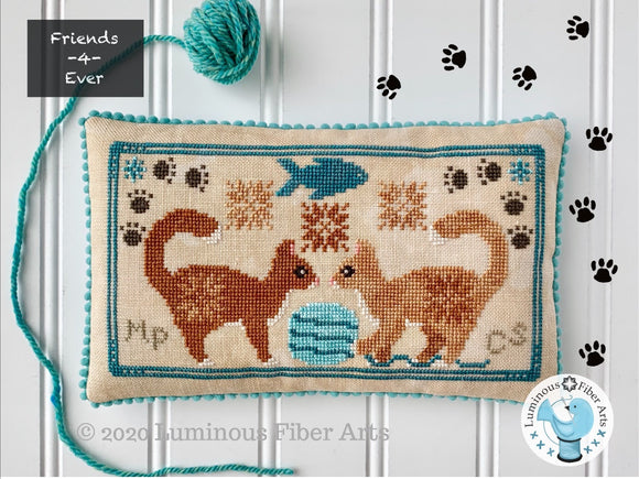 Friendship Series: Playful Cats | Luminous Fiber Arts