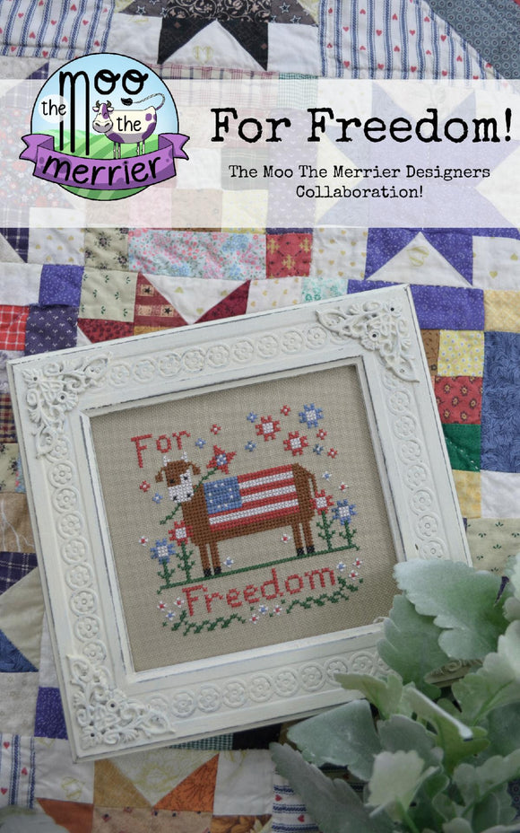 For Freedom - The Moo The Merrier | Annie Beez Folk Art - Needlework Expo