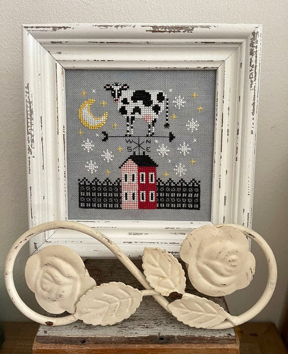 The Cow that Missed the Moon | Fox & Rabbit Designs - Needlework Expo (back-order, will ship 4/7)