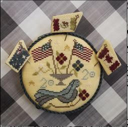 New! Patriotic Pinkeep (Floss Packs Available) | Bendy Stitchy Designs