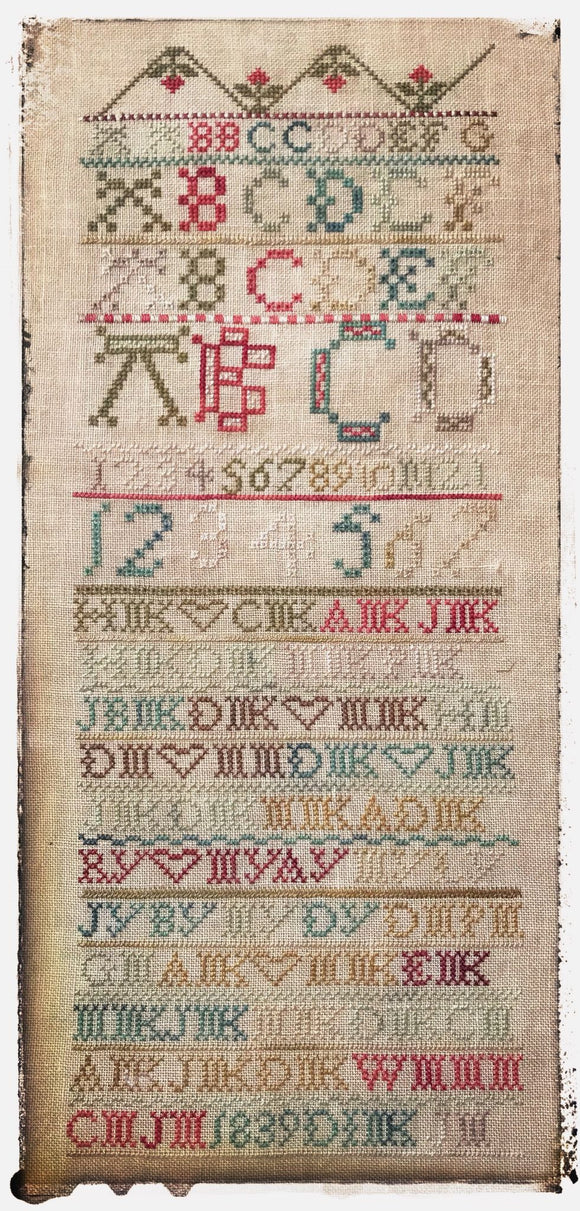 Antique Family Sampler 1838 | Lucy Beam