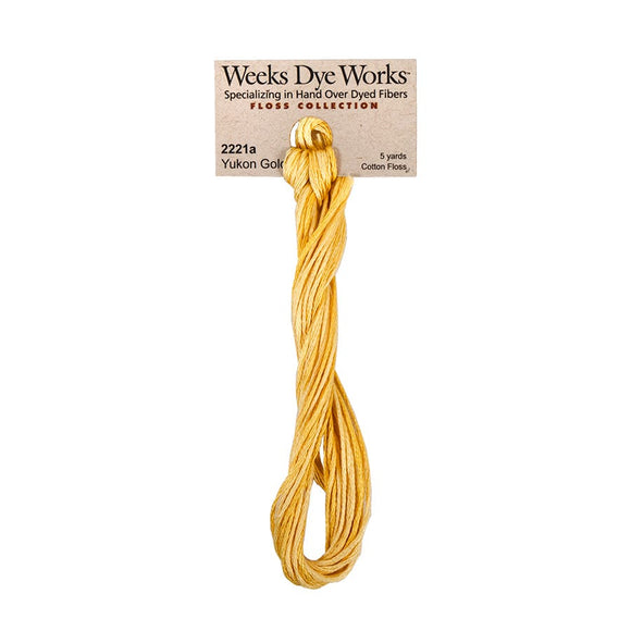 Yukon Gold Weeks Dye Works (Nashville 2020 Release) | Hand-Dyed Embroidery Floss