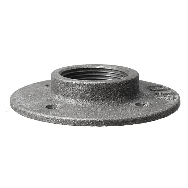 SolidCRS™ 1/2 Inch Malleable Iron Floor Flange Steel Iron Pipe Fitting Wall Mount