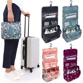 Zipper Hanging Toiletry Bags Travel Organizer Case