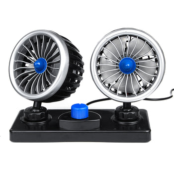 12V/24V Electric Dual Oscillating Fan