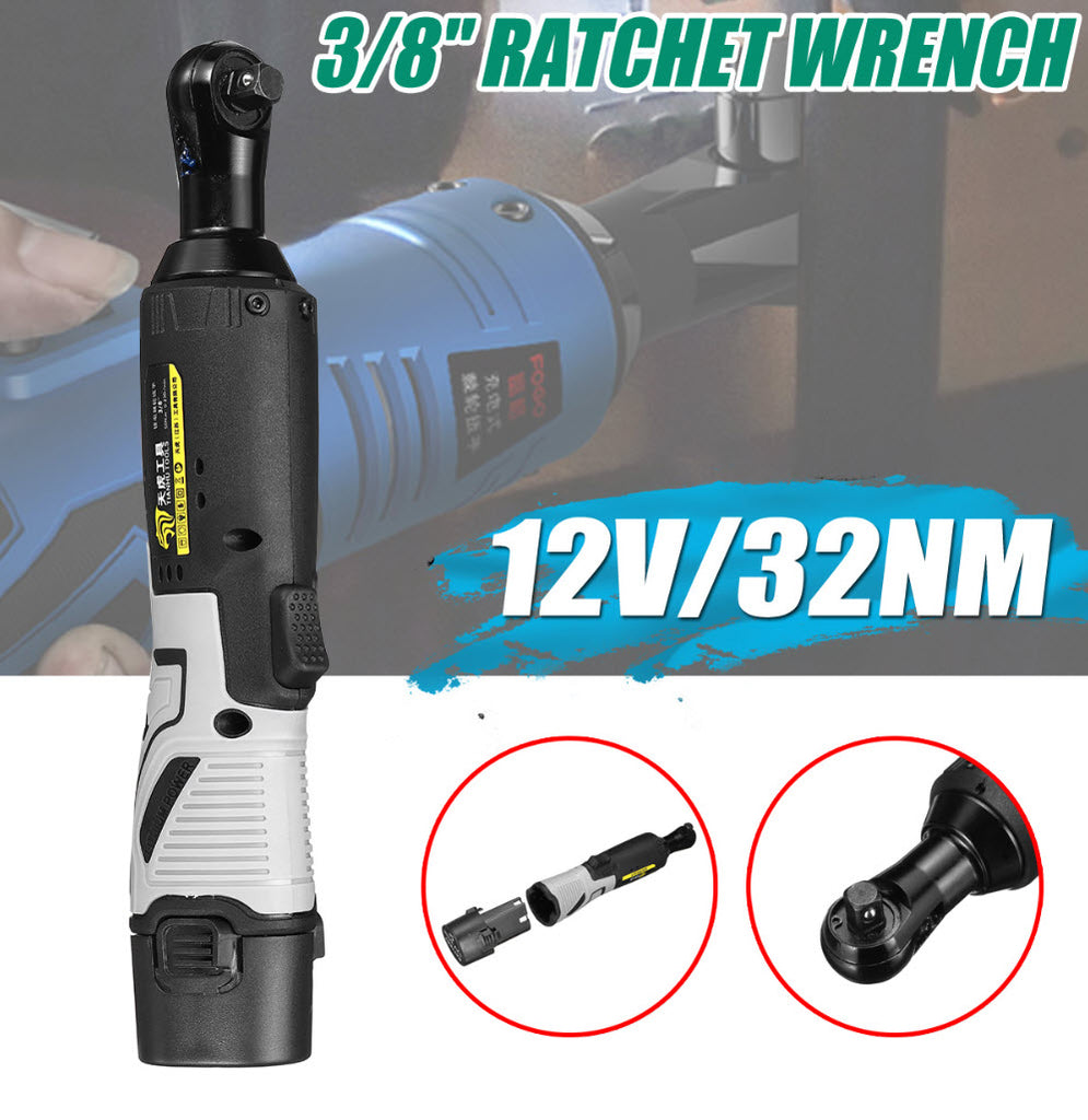 QuickX™ Cordless Electric Ratchet Wrench Tool Set with Battery & Charger