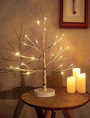 White Birch Tree with 24 LED Lights \ Easter Party Decor