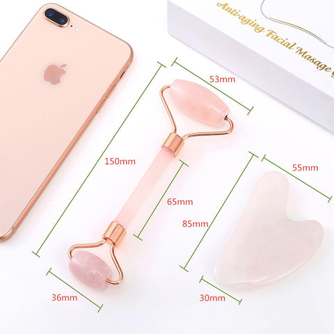 Rose Quartz/ Face Roller Massager