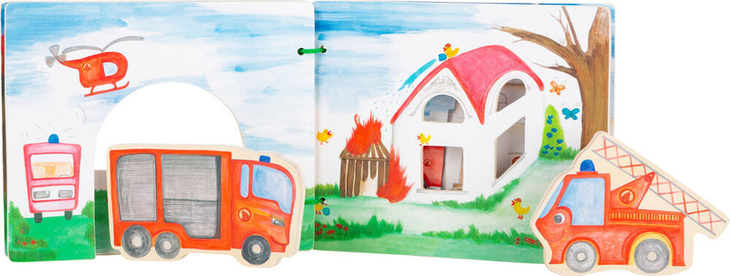 Interactive Fire Brigade Wooden Book