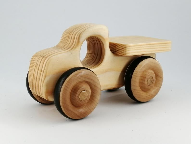Natural Wooden Pickup Truck