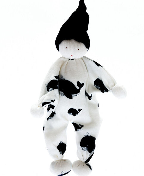 Black and White Scrappy Buddy Organic Comforter