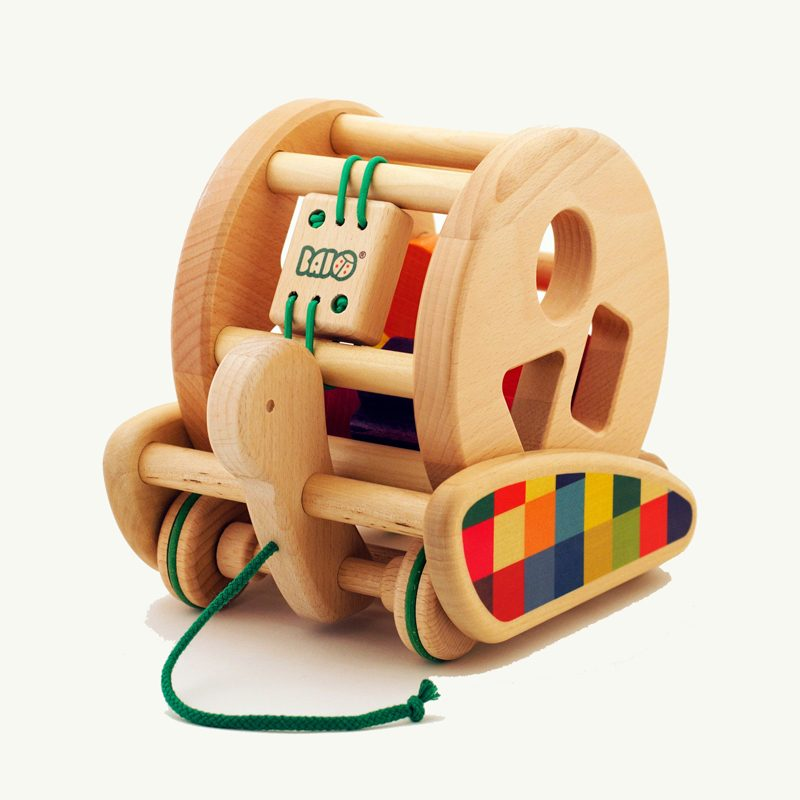 Snail Shape Sorter and Pull-Along Toy