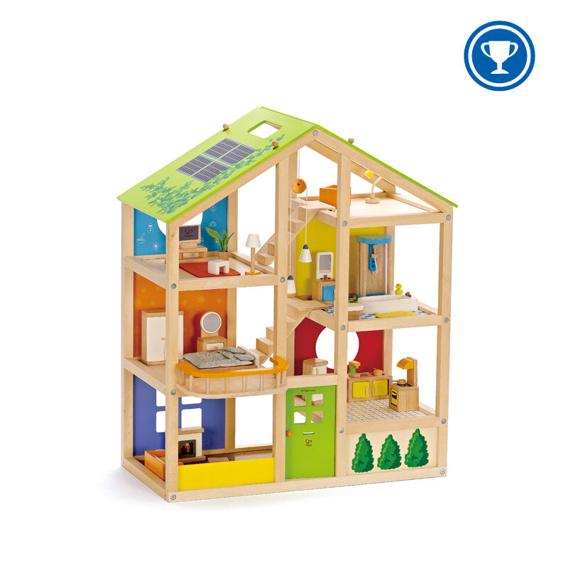 All Season Dolls House with Furniture