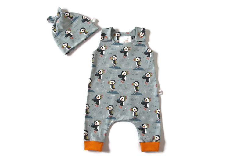 Puffin Romper and Hat Set