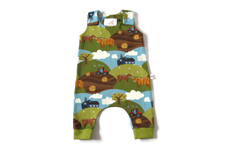 Highland Cow Romper and Hat Set