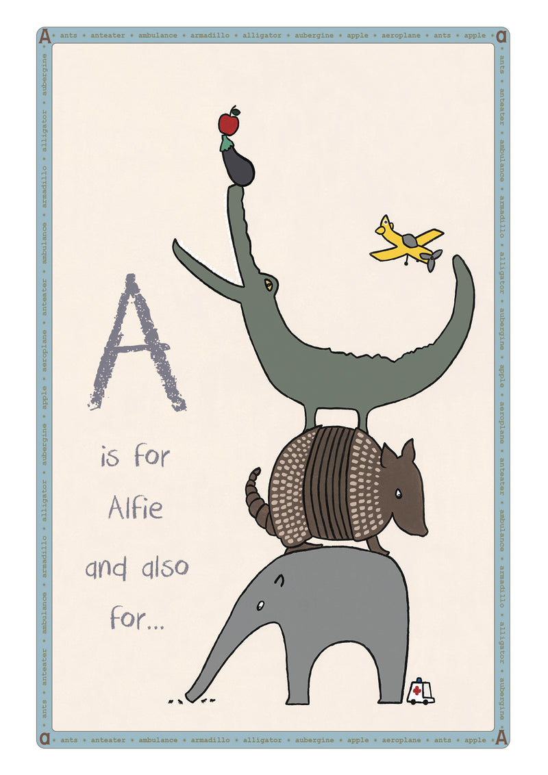 A is for...Personalised Print