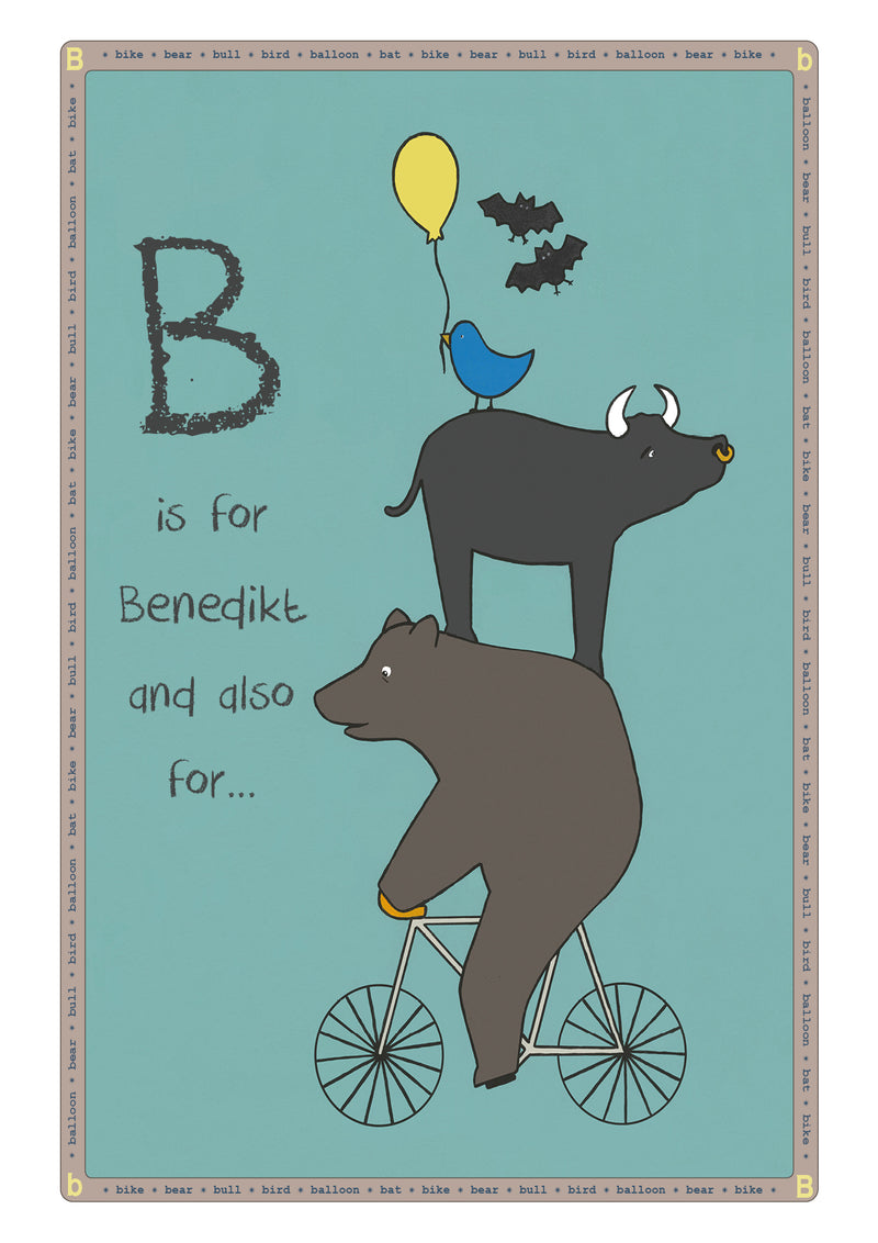 B is for...Personalised Print
