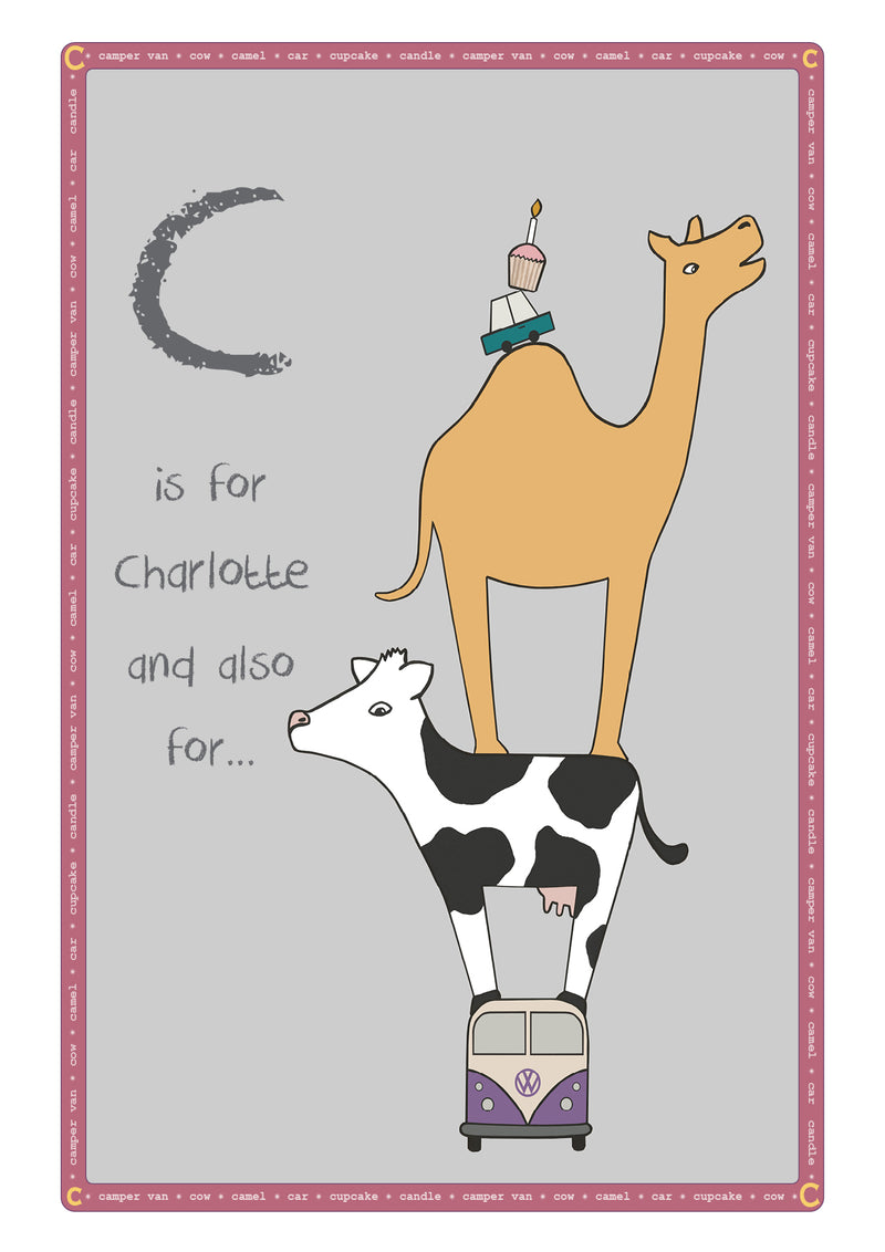 C is for...Personalised Print