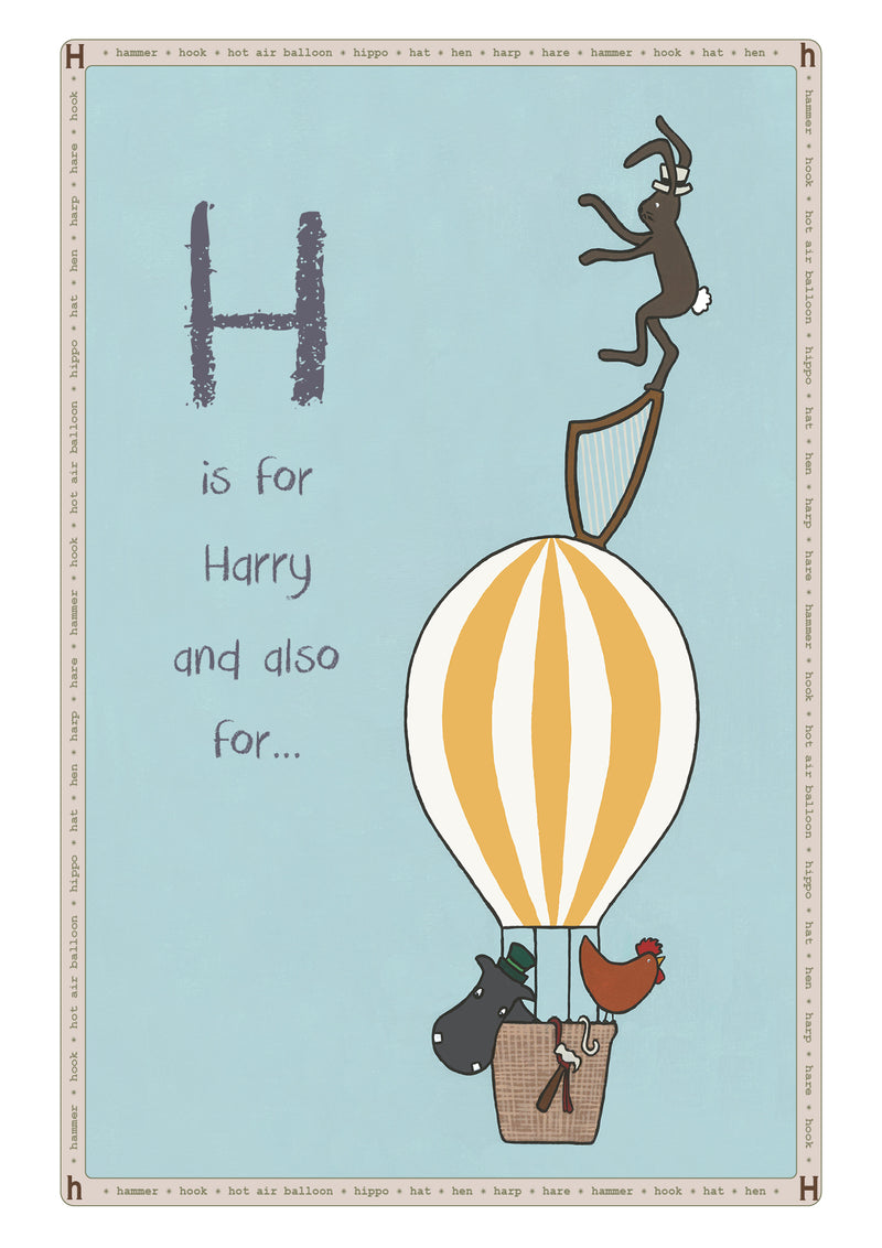 H is for...Personalised Print