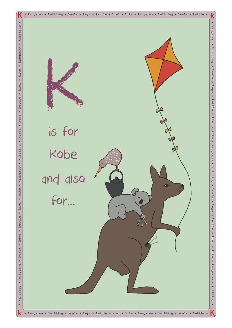K is for...Personalised Print