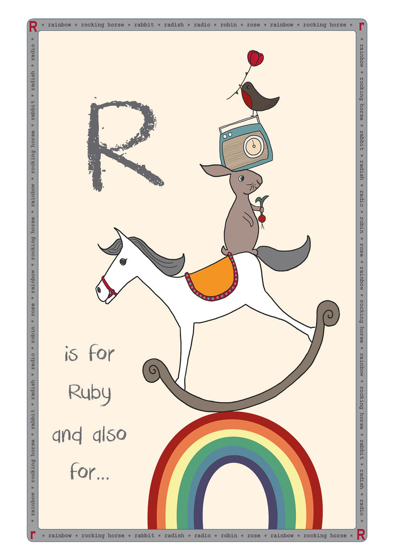 R is for...Personalised Print