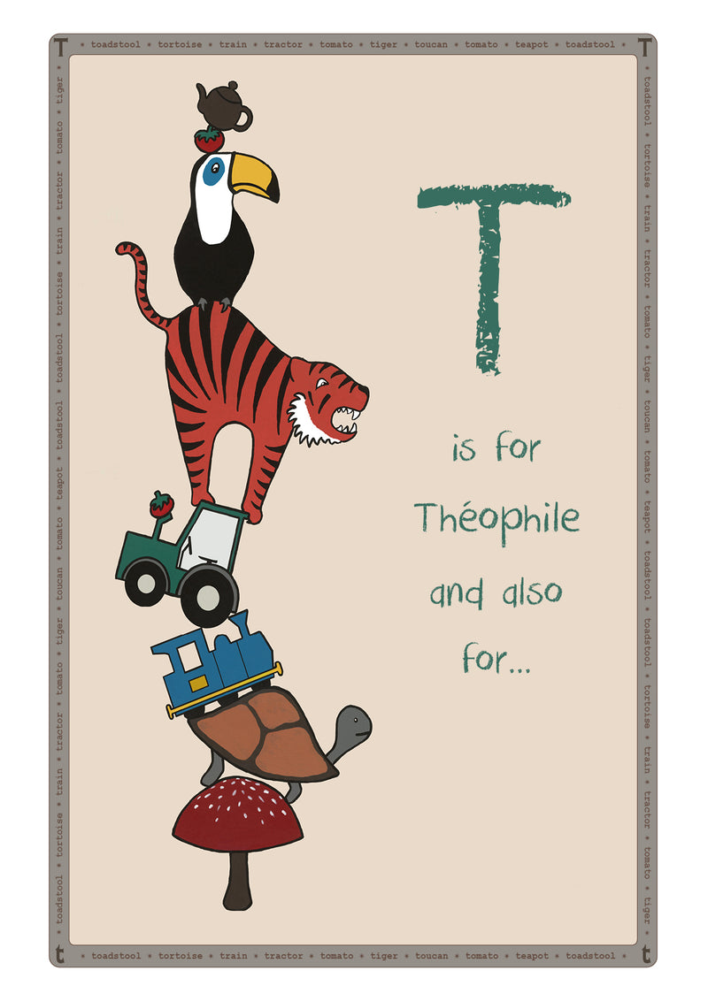 T is for...Personalised Print