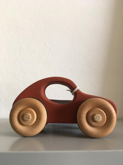 Red Wooden Car