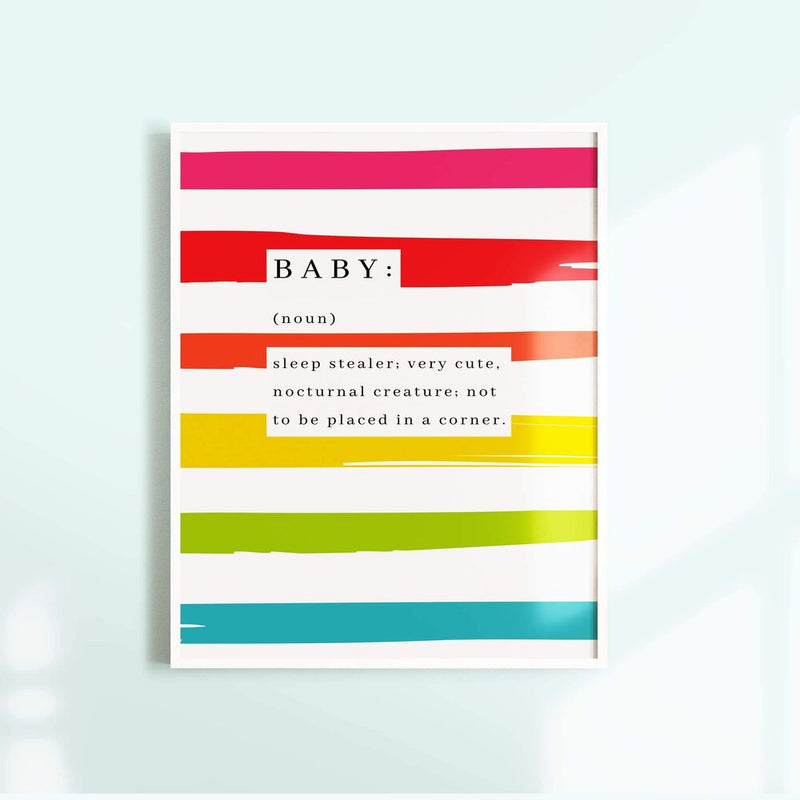Baby Dictionary Extract A4 Print