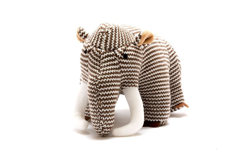 Knitted Stripe Woolly Mammoth Dinosaur Toy