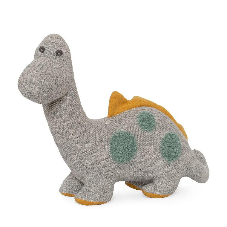 Organic cotton knitted large Diplodocus Dinosaur Toy