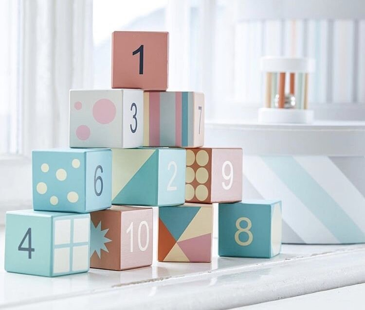 Pastel Number Blocks