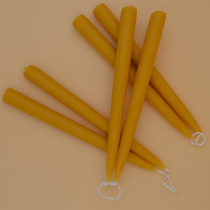 Hand-dipped Beeswax Dinner Candles
