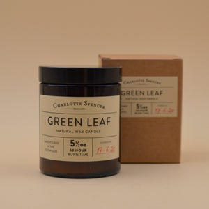 Charlotte Spencer Green Leaf Botany Candle